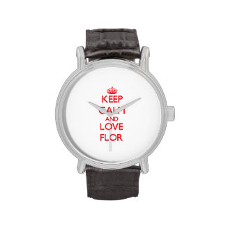 Keep Calm and Love Flor Watches