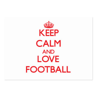 Keep calm and love Football Large Business Cards (Pack Of 100)