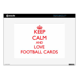 Keep calm and love Football Cards Decals For Large Netbooks