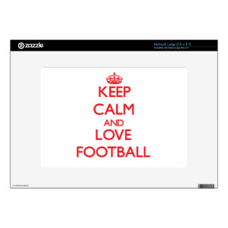 Keep calm and love Football Decal For Netbook