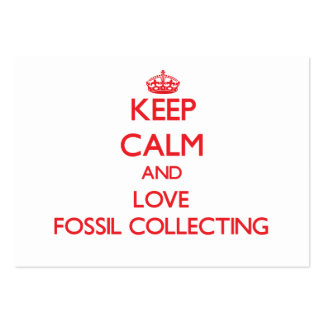 Keep calm and love Fossil Collecting Business Card Templates