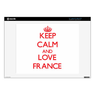 "Keep Calm and Love France Skin For 14"" Laptop"