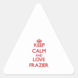 Keep calm and love Frazier Triangle Sticker