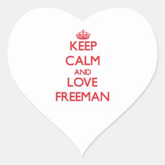 Keep Calm and Love Freeman Sticker