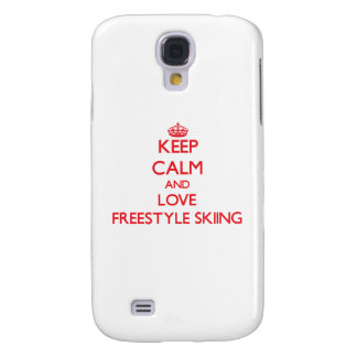 Keep calm and love Freestyle Skiing Samsung Galaxy S4 Case