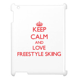 Keep calm and love Freestyle Skiing iPad Cover