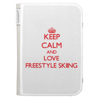 Keep calm and love Freestyle Skiing Kindle 3G Case