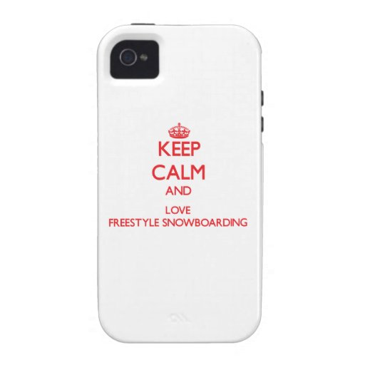 Keep calm and love Freestyle Snowboarding Vibe iPhone 4 Case