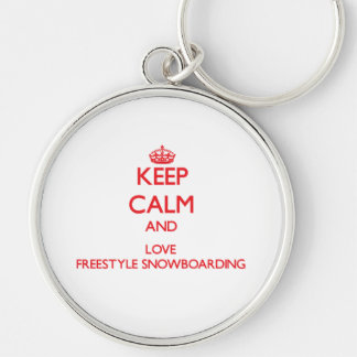 Keep calm and love Freestyle Snowboarding Keychain
