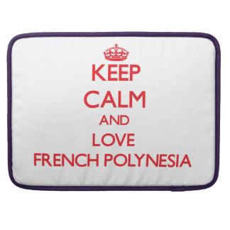 Keep Calm and Love French Polynesia MacBook Pro Sleeve