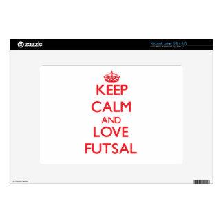 Keep calm and love Futsal Netbook Decal