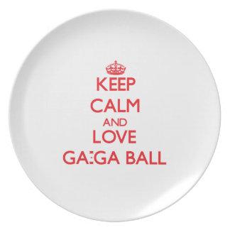 Keep calm and love Ga-Ga Ball Party Plates