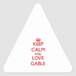 Keep calm and love Gable Triangle Stickers
