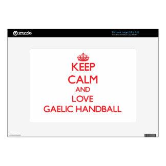 Keep calm and love Gaelic Handball Netbook Decal