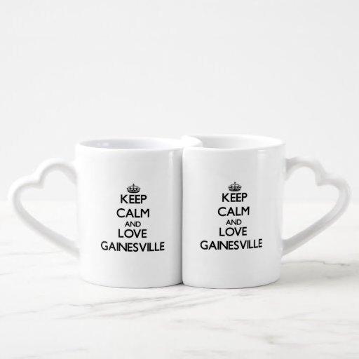 Keep Calm and love Gainesville Couples' Coffee Mug Set