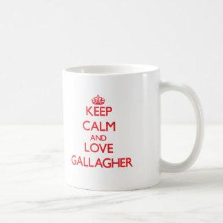 Keep calm and love Gallagher Mug