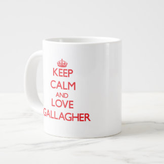 Keep calm and love Gallagher Extra Large Mug