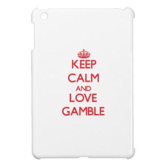 Keep calm and love Gamble iPad Mini Cases