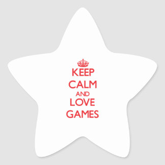 Keep calm and love Games Sticker