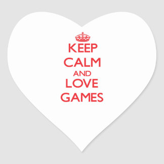 Keep calm and love Games Stickers