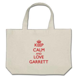 Keep calm and love Garrett Canvas Bag
