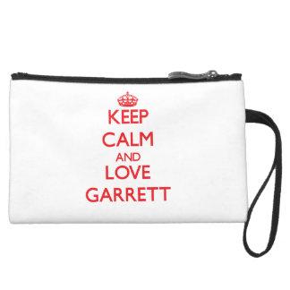 Keep calm and love Garrett Wristlets