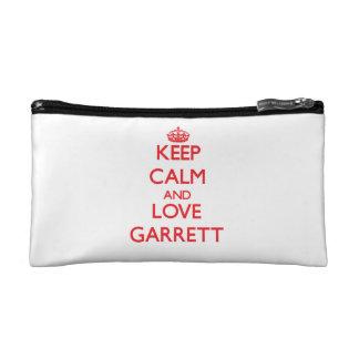 Keep calm and love Garrett Makeup Bags