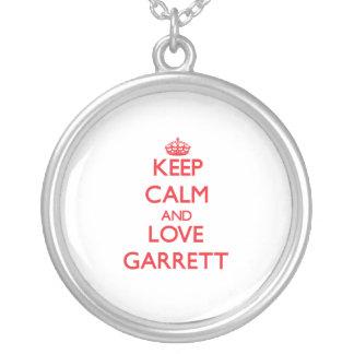 Keep calm and love Garrett Custom Necklace