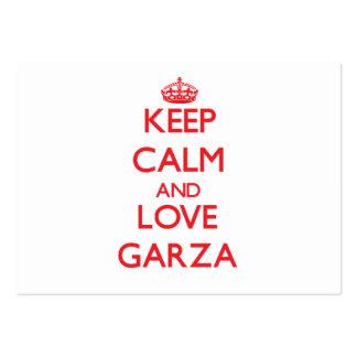 Keep calm and love Garza Business Card Template
