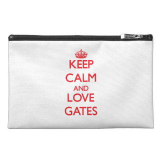 Keep calm and love Gates Travel Accessories Bags