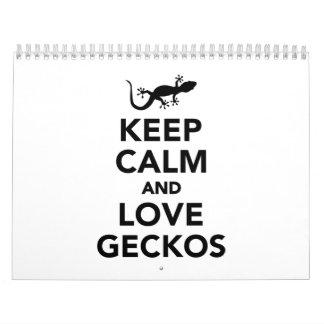 Keep calm and love geckos calendar