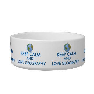 Keep Calm and Love Geography Customizable Bowl
