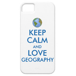 Keep Calm and Love Geography Customizable iPhone SE/5/5s Case
