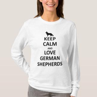 Keep calm and Love german shepherds.jpg T-Shirt