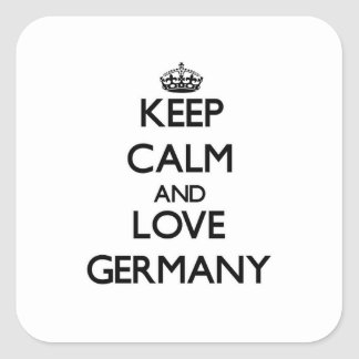 Keep Calm and Love Germany Square Sticker