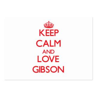 Keep calm and love Gibson Business Card Templates