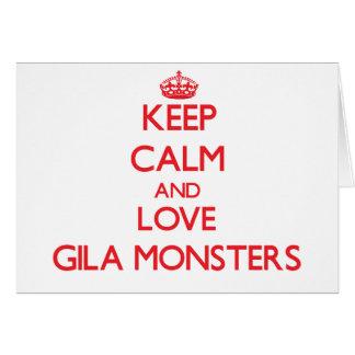 Keep calm and love Gila Monsters Greeting Card