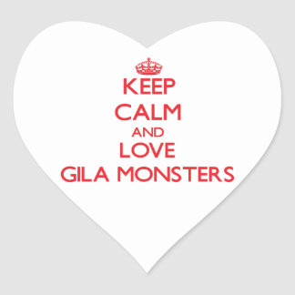 Keep calm and love Gila Monsters Sticker