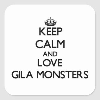 Keep calm and Love Gila Monsters Stickers