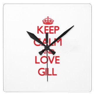 Keep calm and love Gill Wallclocks