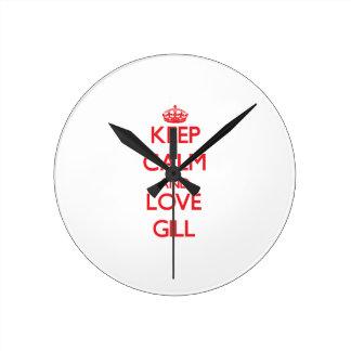 Keep calm and love Gill Wall Clocks