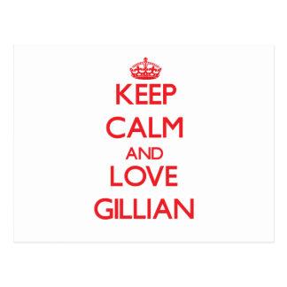 Keep Calm and Love Gillian Post Cards