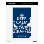 Keep Calm and Love Giraffes - all colours Decal For The NOOK Color