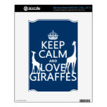 Keep Calm and Love Giraffes - all colours NOOK Decals