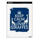 Keep Calm and Love Giraffes - all colours iPad 3 Decal