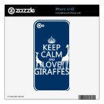 Keep Calm and Love Giraffes - all colours Skins For The iPhone 4S