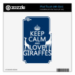 Keep Calm and Love Giraffes - all colours iPod Touch 4G Skins