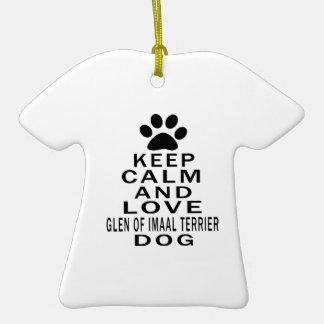 Keep Calm And Love Glen of Imaal Terrier Dog Christmas Ornament