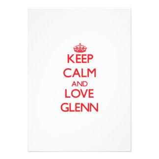 Keep calm and love Glenn Announcements