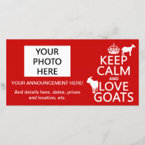 Keep Calm and Love Goats Announcement